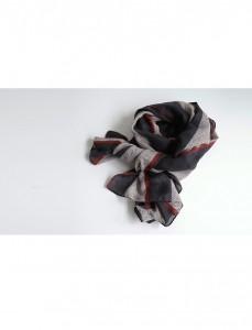 <br>ヘリンボーンライン配色スカーフ<br><br>